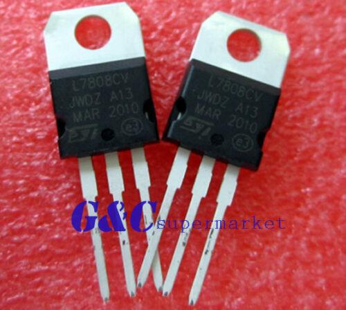 20PCS IC L7808CV L7808 7808 TO-220 ST Voltage Regulator 8V ST NEW GOOD QUALITY