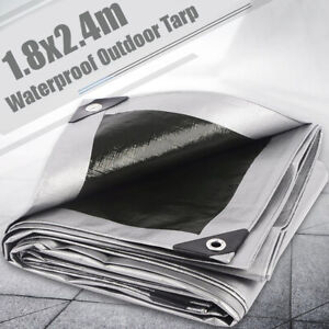 1-8x2-4m-Waterproof-Camping-Tarp-Ground-Sheet-Outdoor-Garden-Cover-with-Eyelets