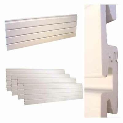 White Plastic Interlocking Slatwall Panel Boxed Stronger /& Lighter Than MDF