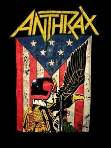 ANTHRAX-cd-lgo-Flag-Judge-DREDD-EAGLE-Official-SHIRT-XXL-2X-new