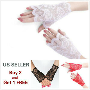 4-Colors-Women-Short-Lace-Floral-Fingerless-Gloves-Gothic-Bride-Wedding-Mittens