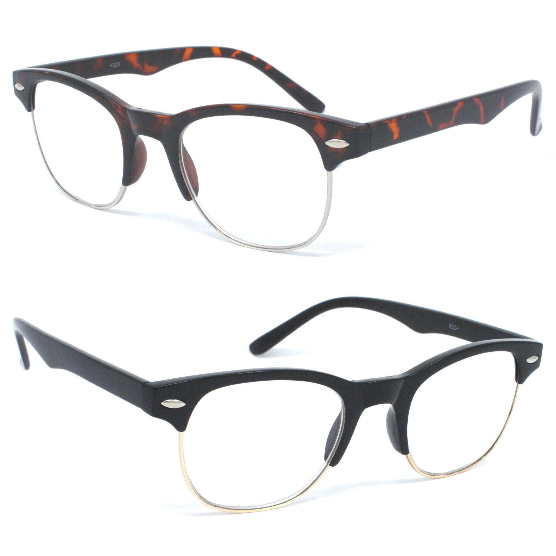 98ac23a24460 Reading Glasses Clear Full Lens Men Women Retro Vintage Style ...