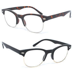 4e3de0304b06 Reading Glasses Clear Full Lens Men Women Retro Vintage Style ...