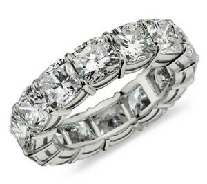 4-99ct-Cushion-cut-Diamond-Engagement-Band-Eternity-Ring-Solid-14k-White-Gold