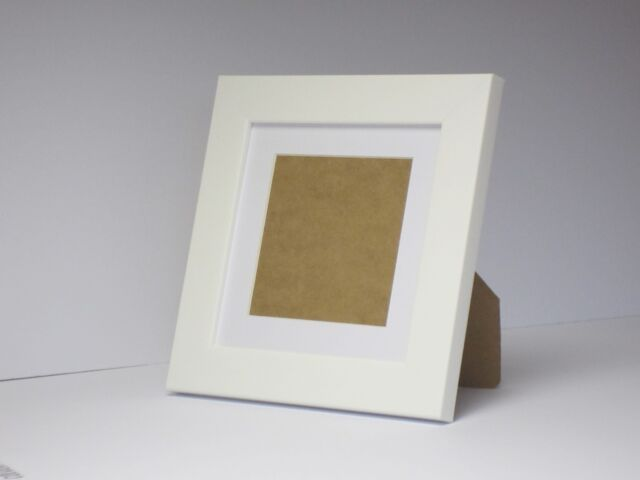 White 8x8 Square Photo Picture Frame Mount 5x5 Standing Ebay