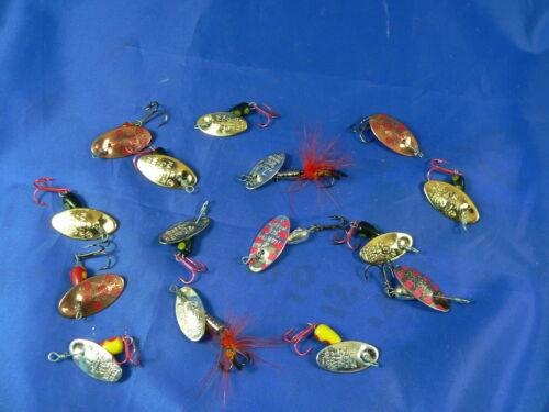 8xn°2 2gr 2,2 pesca spinning trota cavedano MT7 15 cucchiaini Martin 7x n°1