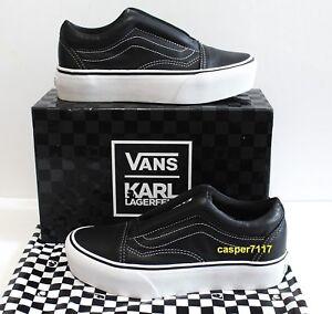 c3377df52af7 Vans X Karl Lagerfeld Old Skool Laceless Platform Black Women s Size ...