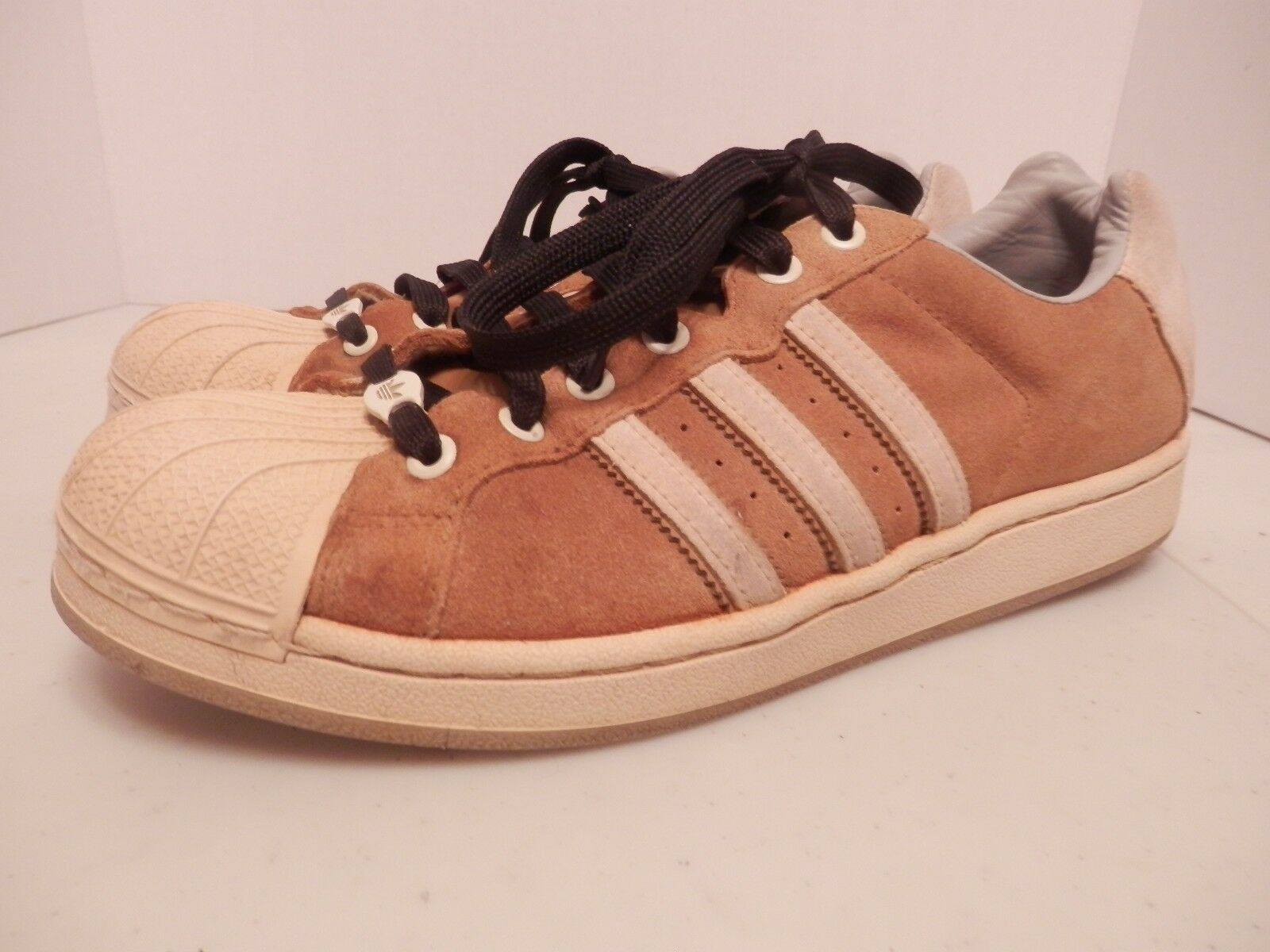 Adidas Brown Leather Tri Striped Running Shoes-Comfortable