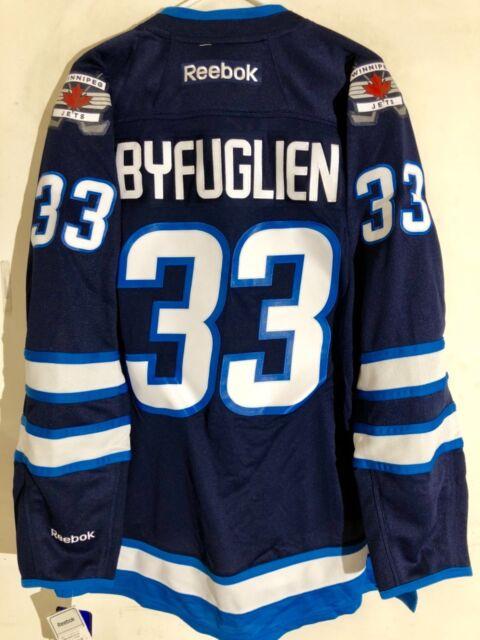 official photos 01f12 f7553 Reebok Premier NHL Jersey Winnipeg Jets Dustin Byfuglien Navy sz M