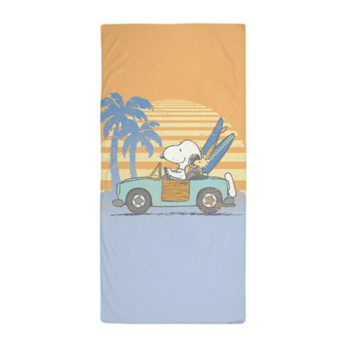 1303281901 CafePress Snoopy Hits The Beach Beach Towel