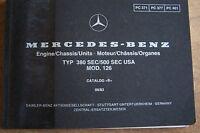 Mercedes 380sec 500sec Owners Parts Manual W126 No Part Numbers