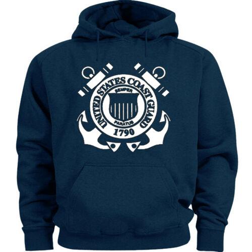 US Coast Guard sweatshirt hoodie blue men/'s sweats uscg gear warm ups hoodie