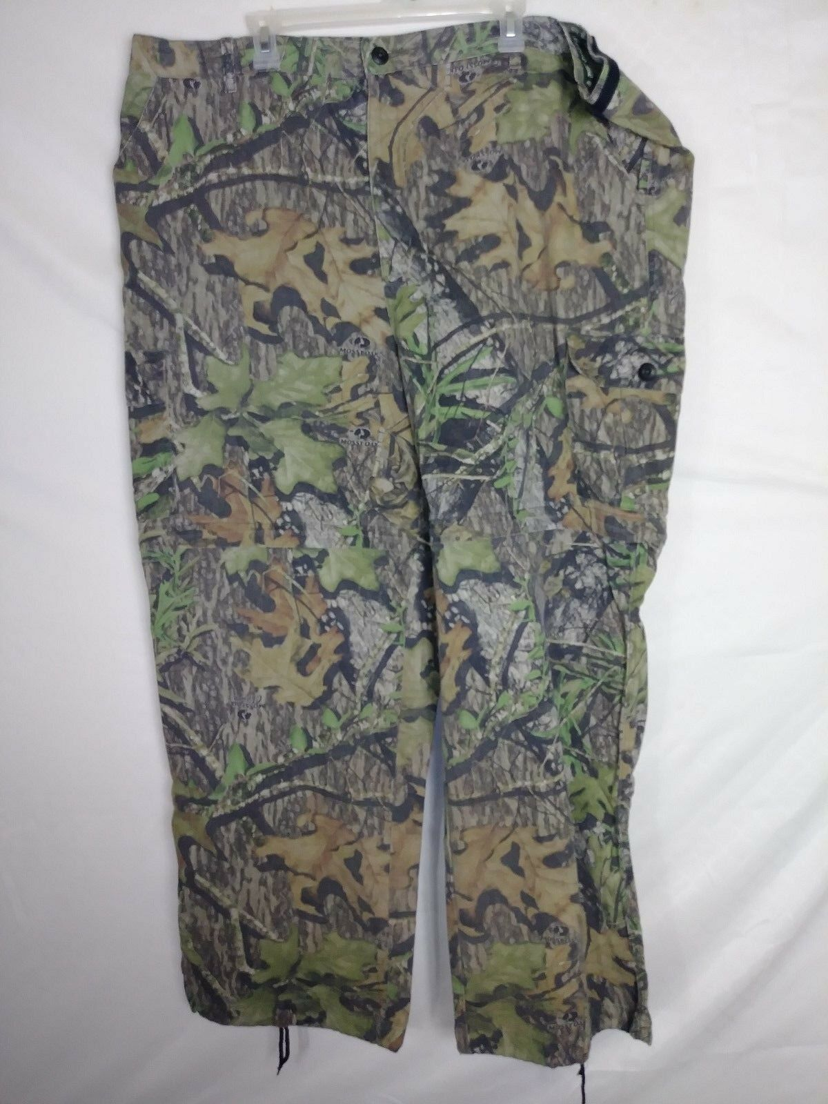 Field Staff Mossy Oak Mens Congreenible Pants Size 3XL Green Camo Hunting Cargo