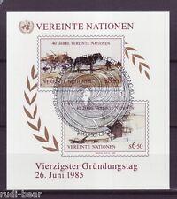 UNO Wien  Block    2  Ersttagsstempel    45 Jahre Vereinte Nationen       -1-