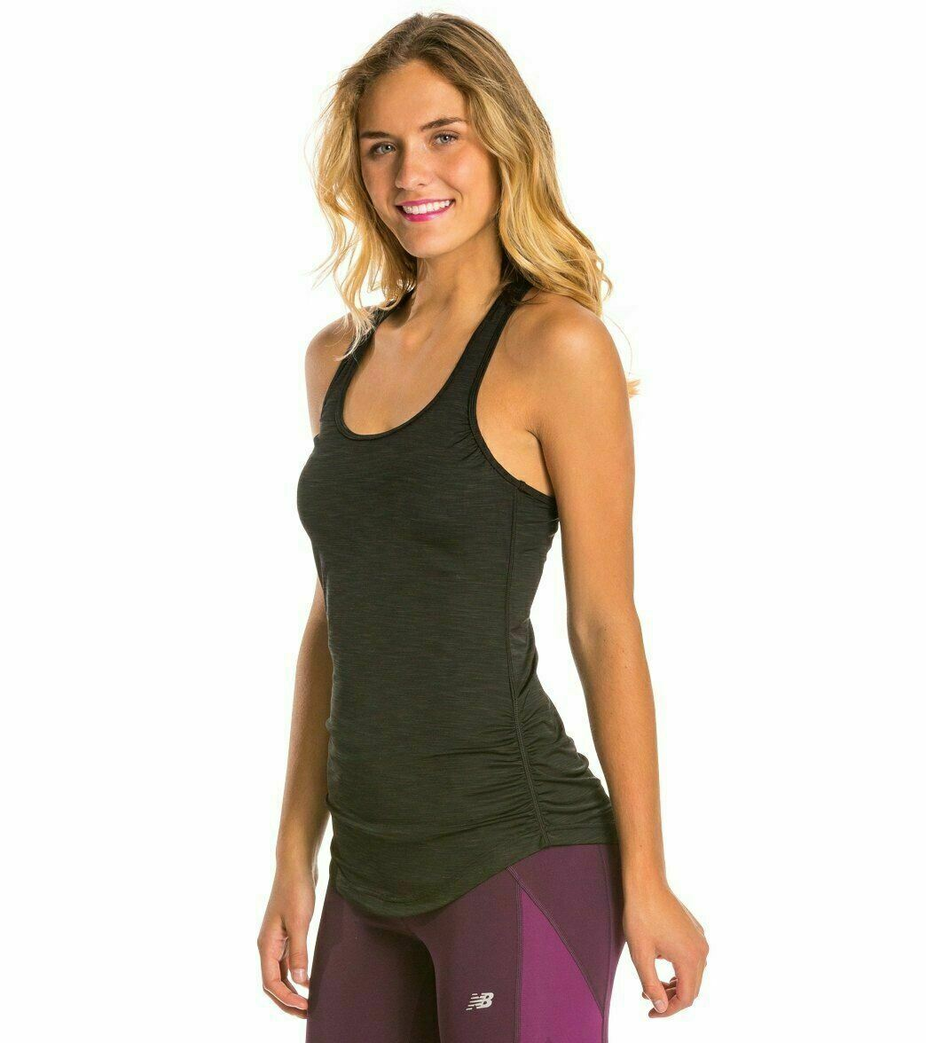 New Balance Women's Fashion Tank Black Heather Extra Small NEW With Tags