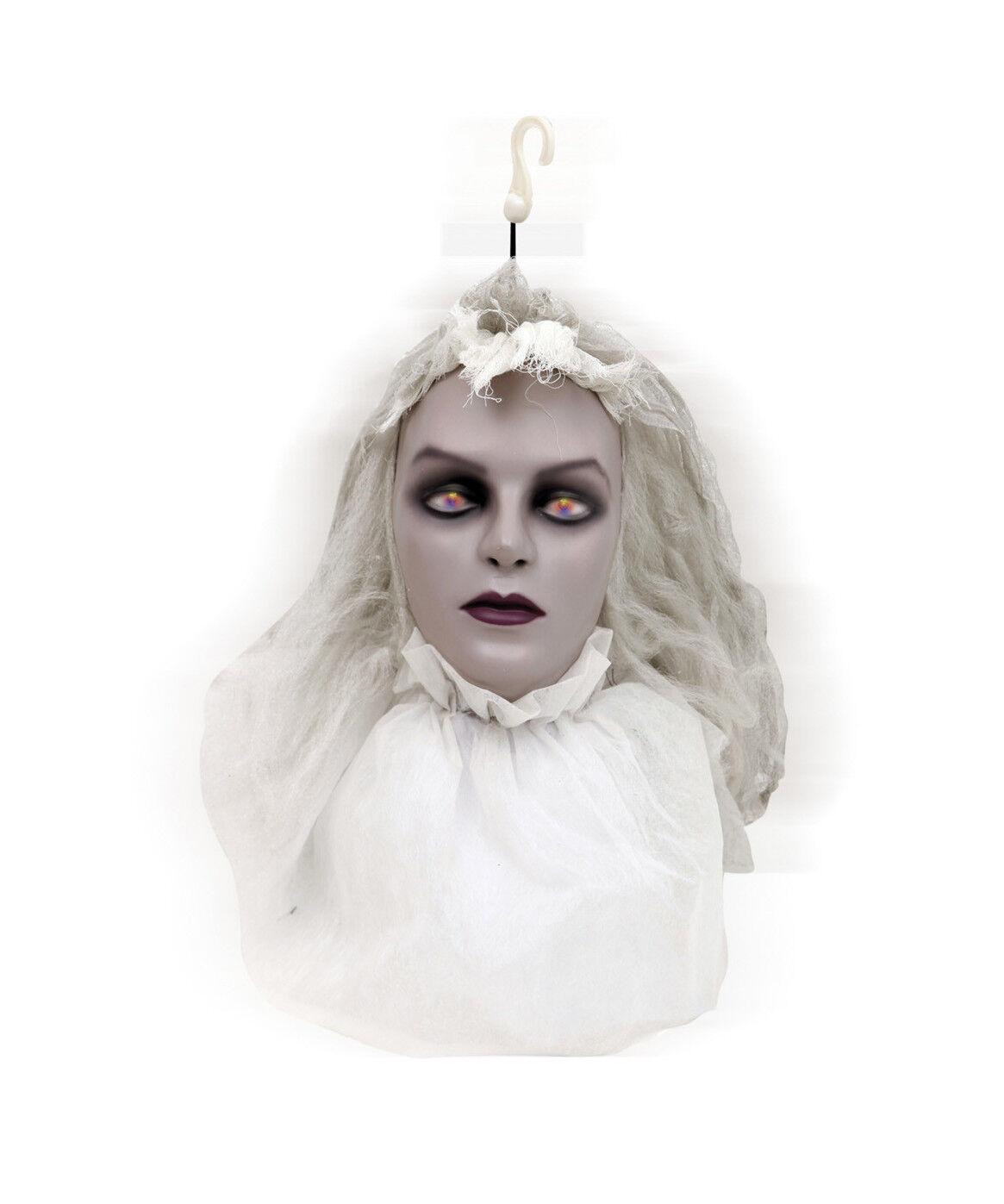 Rotierende Abgetrenntem Zombie Braut Halloween Dekoration mit Licht & Klingen