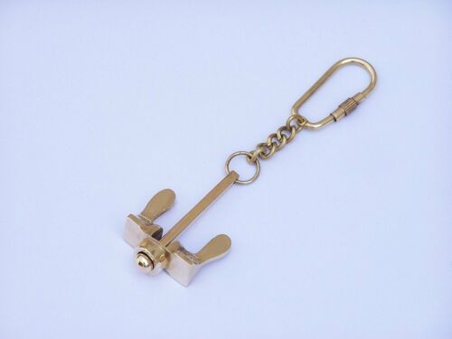 Brass Anchor Design Golden Key chain Key ring for sea Lover Gift Item