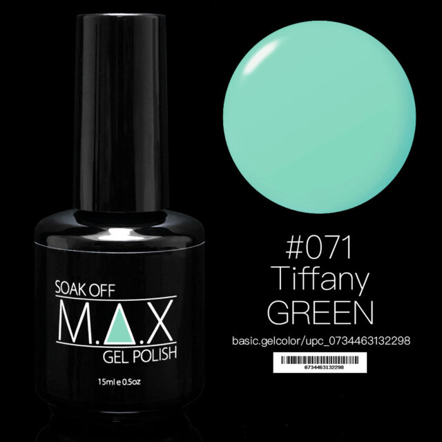 MAX 15ml Soak Off Gel Polish Nail Art UV LED Color #071 - Tiffany Green