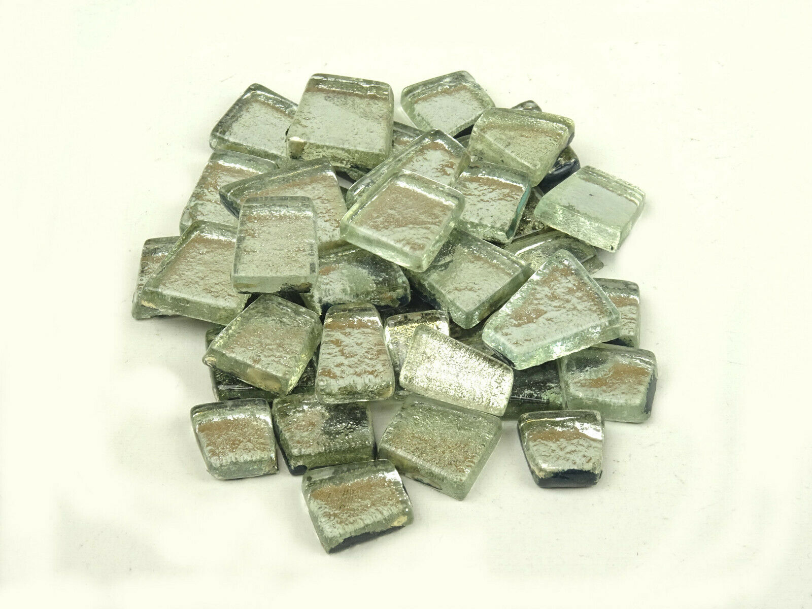 100 grams of Antique stones Cadmium Green Mosaic Tiles Tesserae