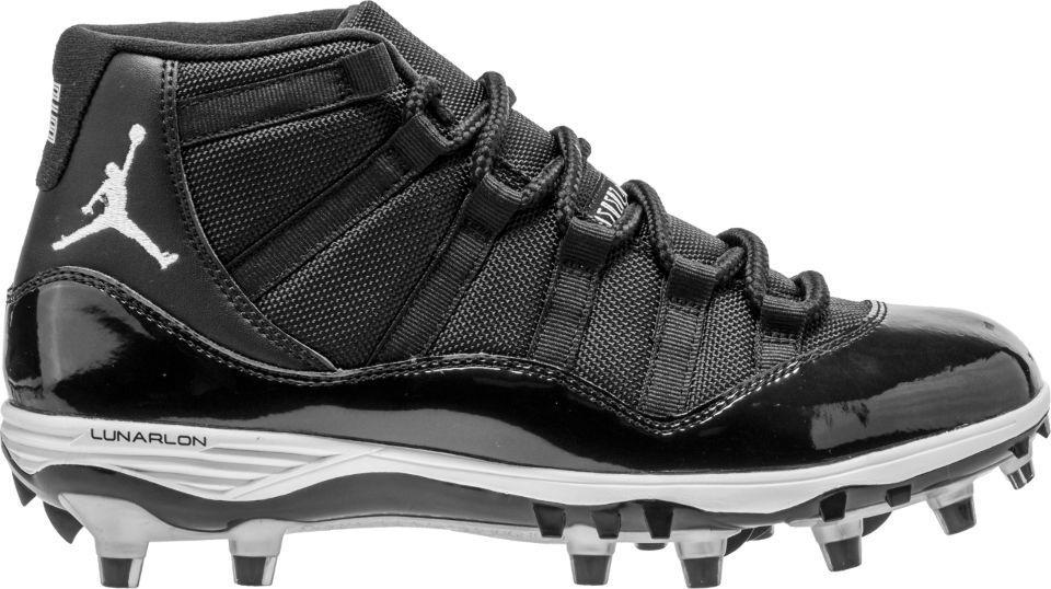 {AO1561-011} MEN'S NIKE AIR JORDAN JORDAN JORDAN XI RETRO TD FOOTBALL CLEAT BLACK WHITE NEW  728a84