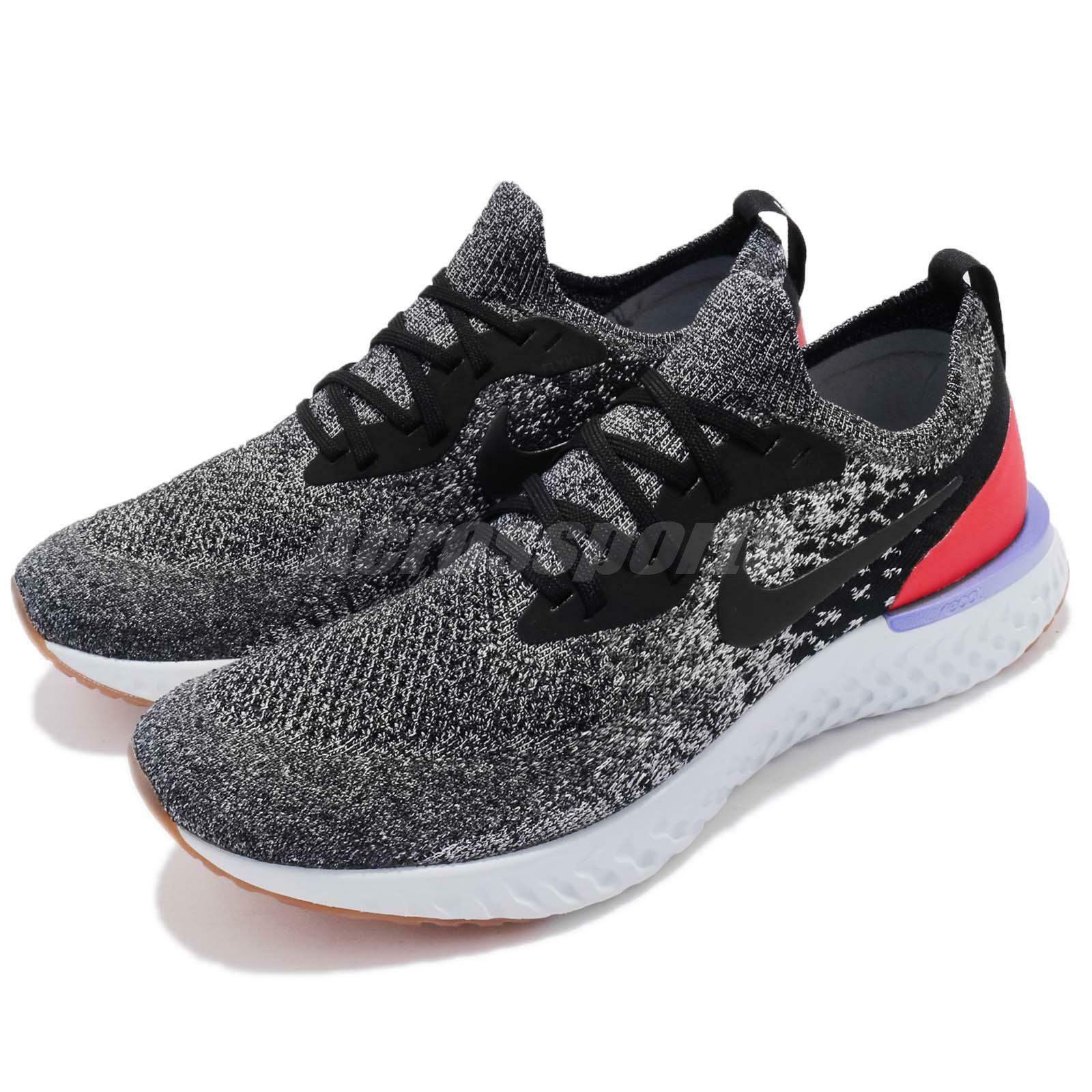Nike Epic React Flyknit noir blanc Orbit  Gris  homme fonctionnement Sneakers AQ0067-006