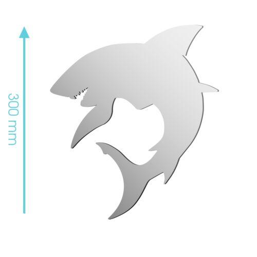 Sizes 100mm to 1200mm NEW Shark Sea Creature Predator Animal Mirror