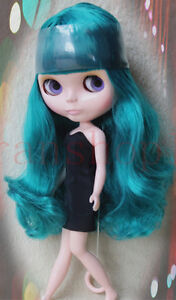 Takara-12-034-Neo-Blythe-from-factory-Nude-Doll-emerald-green-hair-SD138-Pink-skin