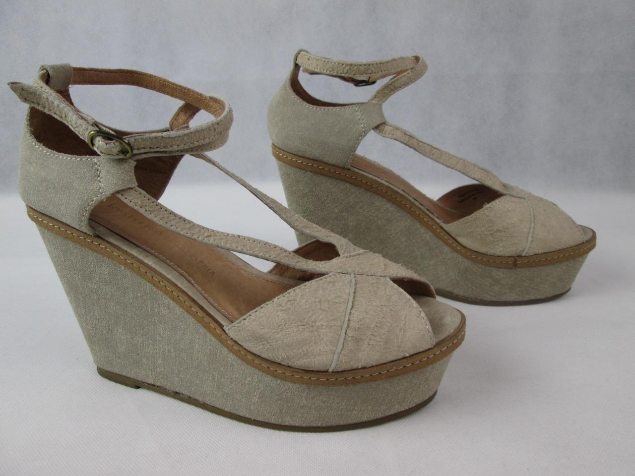 Schuler & Sons Filadelfia Filadelfia Filadelfia anthropologie Bronceado Sandalia De Cuña Zapatos Talla 9B Nuevo  buen precio