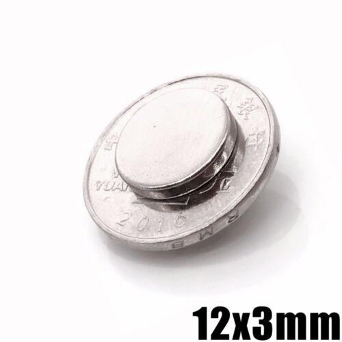 20//50pcs 12 X 3 mm Neodymium Disc Super Strong Rare Earth N50 Fridge Magnets