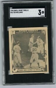 1948-Swell-Sport-Thrills-TED-WILLIAMS-16-Baseball-Card-Graded-SGC-3-VG