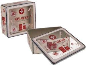 Metalldose Erste Hilfe mit Sichtfenster Geschenkdose Geschenkverpackung 1 Stück