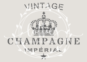 STENCIL-A5-VINTAGE-CHAMPAGNE-Furniture-Wine-Crate-French-SHABBY-CHIC-190-MYLAR