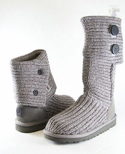 562885bb29b Kids UGG Australia Classic Cardy 5649 Grey Crochet 100% Authentic ...
