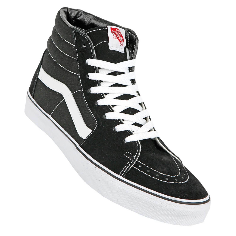Vans Sk8 Unisex Hi schwarz weiß Skate Schuhe black/white - Unisex Sk8 Damen u Herren 1edaac