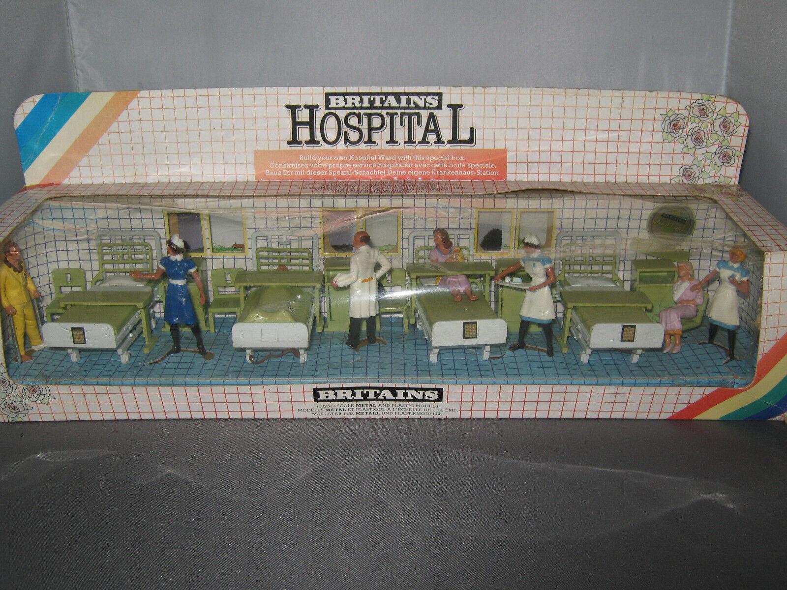 VINTAGE BRITAINS MODEL MODEL MODEL No.7857    HOSPITAL WARD SET     RARE  524ff0