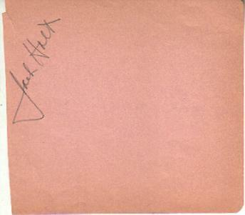 Movies Jack Holt Autographed Album Page Popular Star Of 1940s Westerns D.51
