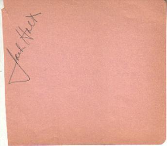 Jack Holt Autographed Album Page Popular Star Of 1940s Westerns D.51 Autographs-original Movies