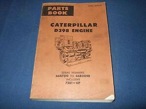 cat caterpillar d398 engine parts book manual s n 66b700 2048 75b1 rh ebay com Cat 398 Engine Specs Cat 398