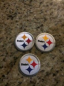(3) Lot STEELERS IRON ON PATCHES