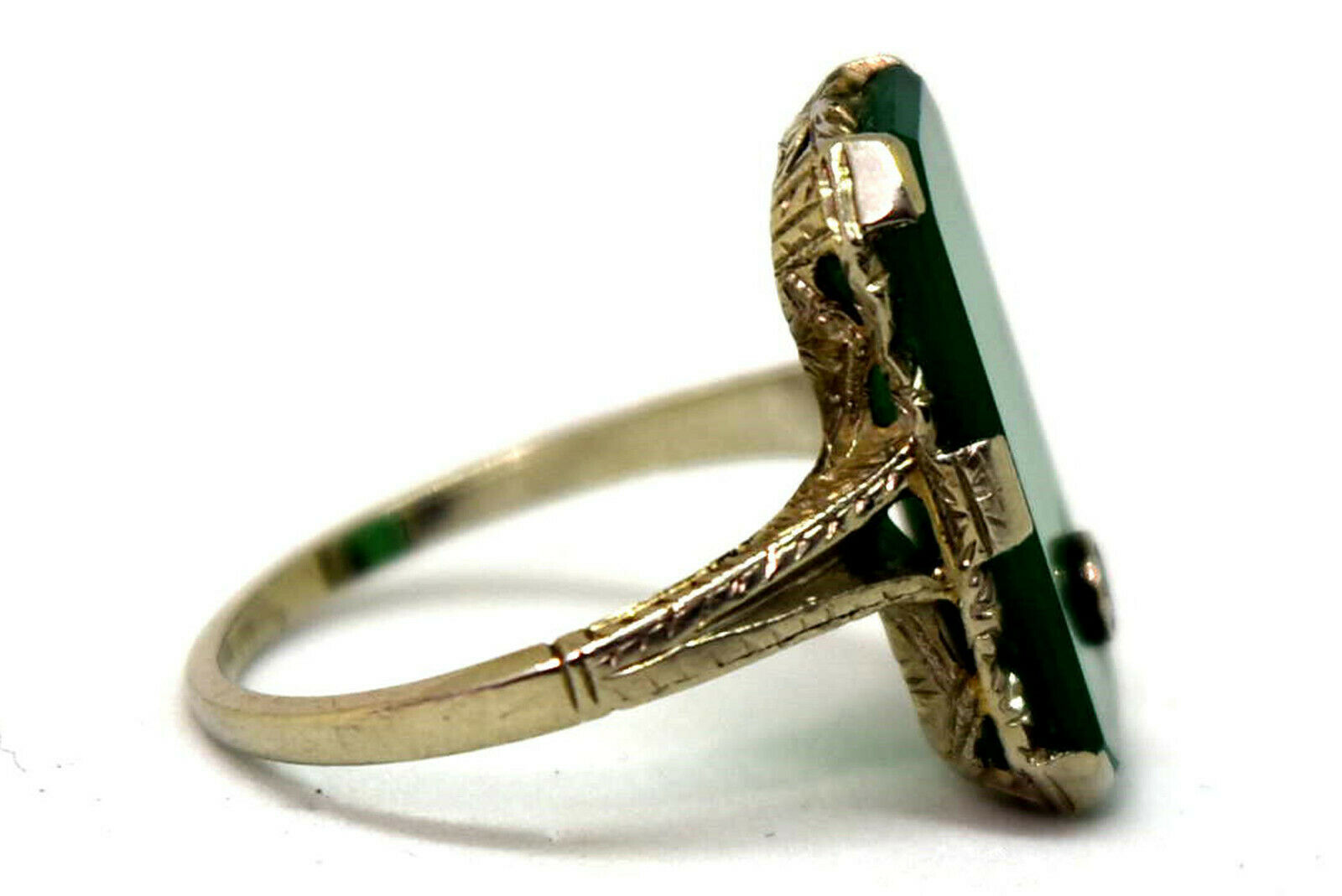 Antique Victorian 18K Solid White Gold, Natural C… - image 3