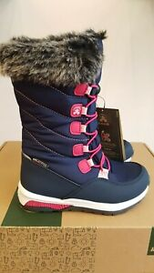 NEW IN THE BOX KAMIK PRAIRIE NAVY KIDS WINTER BOOTS FOR KIDS