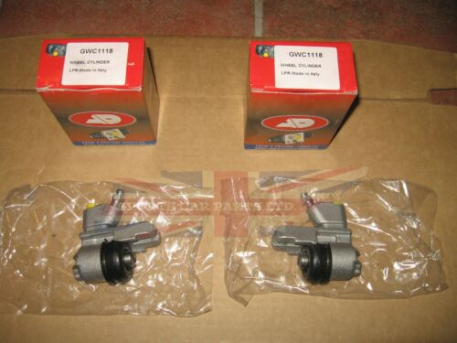 TR250 and TR6 .75 Bore Pair of New Large Rear Wheel Brake Cylinders for TR4,4A
