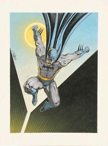 Signed-Batman-Painting-by-David-Michael-Beck-Comic-Book-Artist