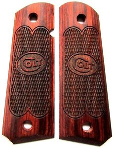 Factory-Authorized-Colt-1911-Pistol-Grips-Full-Size-Rosewood-with-Colt-Logo