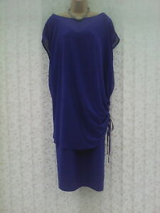 BNWT-SIZE-30-BLUE-TWO-PART-DRESS-SET-CURVE-MARKS-amp-SPENCER-WEDDING-CRUISE