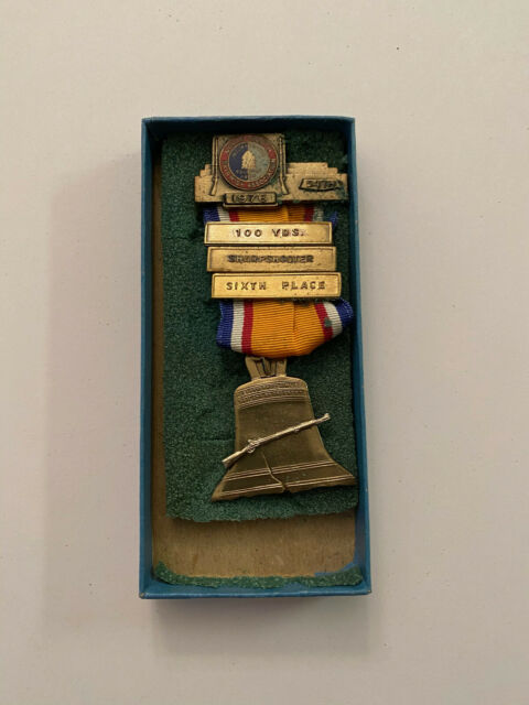 1976 North South Civil War Reenactment Sharpshooter 6th Medal Confederate Union