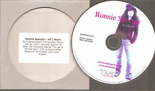 """RONNIE SPECTOR / KEITH RICHARDS """"All I Want"""" Rare Swedish Acetate PROMO CD"""