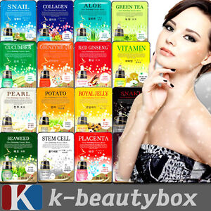 30pcs-Korean-Essence-Facial-Mask-Sheet-Moisture-Face-Mask-Pack-Skin-Care-Lots