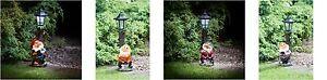 Nouvelle Mode Neuf Blanc Led Lumières Gnome Avec Energie Solaire Lampadaire Jardin Décoration-afficher Le Titre D'origine Beau Lustre