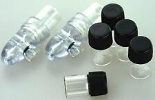 2 x Dosierer Sniffer Spender Snuff Bottle + 5 x Ersatz Gläschen transp. Typ 1G
